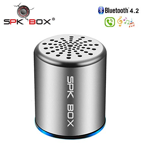 Bluetooth Speaker, Portable Mini Wireless Speaker Indoor Outdoor Travel TWS Stereo Bluetooth Speakers Bass HD Surround Built-in Microphone Works with iPhone Samsung Smartphones and More (S1 Grey)