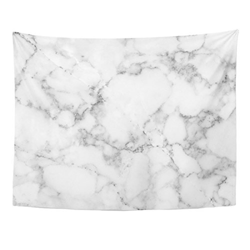 TOMPOP Tapestry Gray Black White Natural Marble Pattern Skin Wall Luxurious High Resolution Abstract Aged Home Decor Wall Hanging Living Room Bedroom Dorm 60x80 inches by TOMPOP