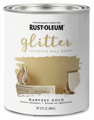 RUST-OLEUM 323859 Quart Gold Brushable Glitter Paint