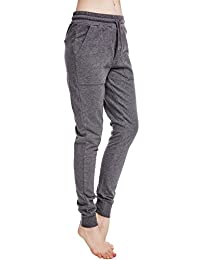 icyzone Women's French Terry Jogger Sweatpants with Side Pockets