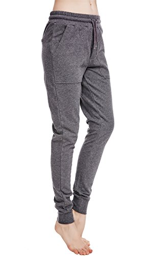 icyzone Women Sweatpants Joggers Activewear Workout Running Pants with Pockets (M, Athletic Grey)