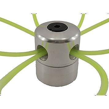 Cabezal de desbrozadora de aluminio con 4 l/íneas de nailon Yintiod