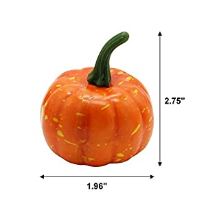 YOFIT 16 Pcs Artificial Fruit Fake Mini Pumpkins for Halloween House Party Decoration 2
