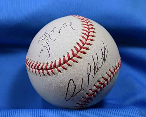 BERNIE WILLIAMS ANDY PETTITTE PSA DNA Coa Autograph American League OAL Hand Signed Baseball -