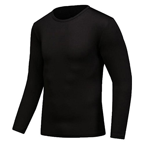 Century Star Mens Quick-drying Sport Moisture Wicking Athletic GYM T-shirts Black XL