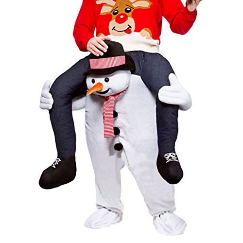 Unisex Ride On Riding Shoulder Adult Costume,Snowman Costume (Mascot Snowman Costume)