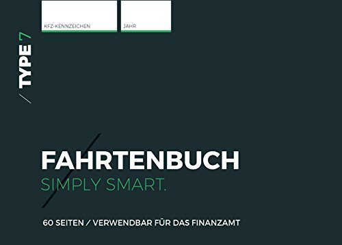 Type 7 - Premium-Fahrtenbuch, DIN A6, 60 Seiten, für Finanzamt geeignet