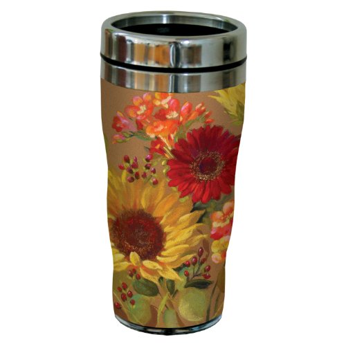Tree-Free Greetings sg23704 Floral and Berry Arrangement by Nel Whatmore Travel Tumbler, 16-Ounce