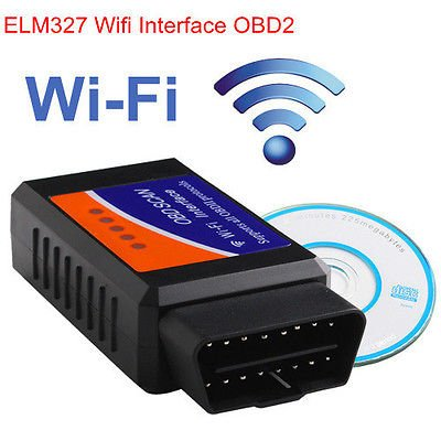 New Generic WiFi ELM327 OBD2 Car Diagnostics Scanner Scan Tool for iPhone iOS Android & PC by E_Market(TM)