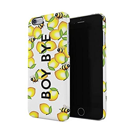 new style 13e01 bd25c Boy Bye Cute Bumblebees & Lemons Hard Plastic Phone Case For iPhone 6 &  iPhone 6s