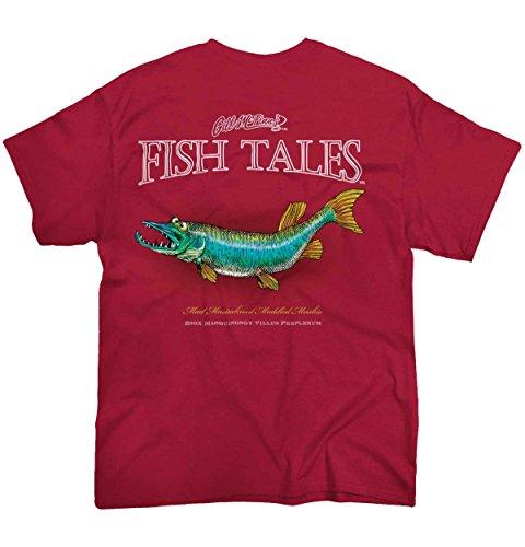 Gill McFinn Mad Mustachioed Muskie Fish Sporting Goods Fishing Gear Funny T Shirt (Muskie Fish)