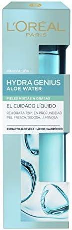 L'Oréal Paris Dermo Expertise Hydra Genius Aloe Vera Cuidado Líquido Facial, Pieles Mixtas a Grasas - 70 ml