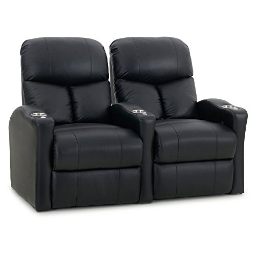 Octane Seating BOLT-R2SP-BND-BL Octane Bolt XS400 Motorized Leather Home Theater Recliner Set Row of 2