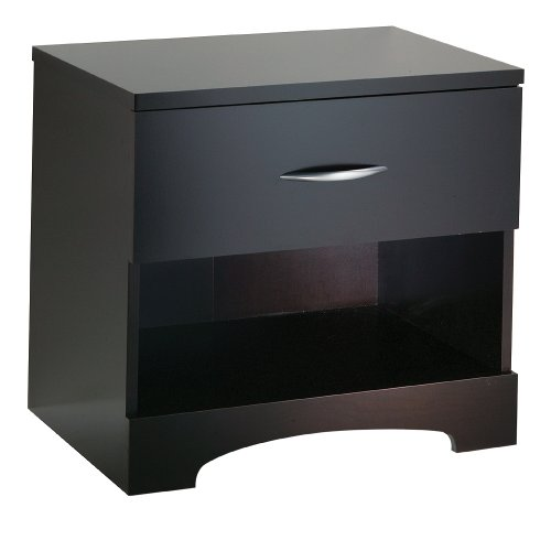 South Shore Furniture, Step One Collection, Night Table, Chocolate (Chocolate Bedroom Collection)