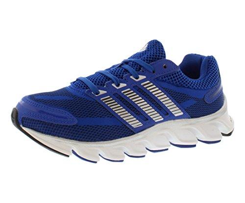 adidas Performance Powerblaze Running Shoe (Little Kid/Big Kid), Collegiate Royal/Silver/Navy, 4 M US Big Kid