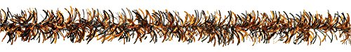 Halloween Black & Orange Tinsel Garland -