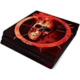 Blood Ring Full Faceplates Skin Decal Wrap with 2 Piece Lightbar Decals for Playstation 4 Pro