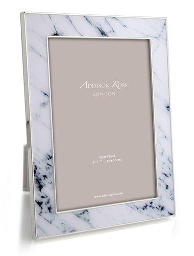 Addison Ross White Carrera Marble Enameled Frame - Marble Frame