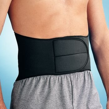Rolyan 54698 Neoprene Lumbar Support, Medium, Black by Rolyan