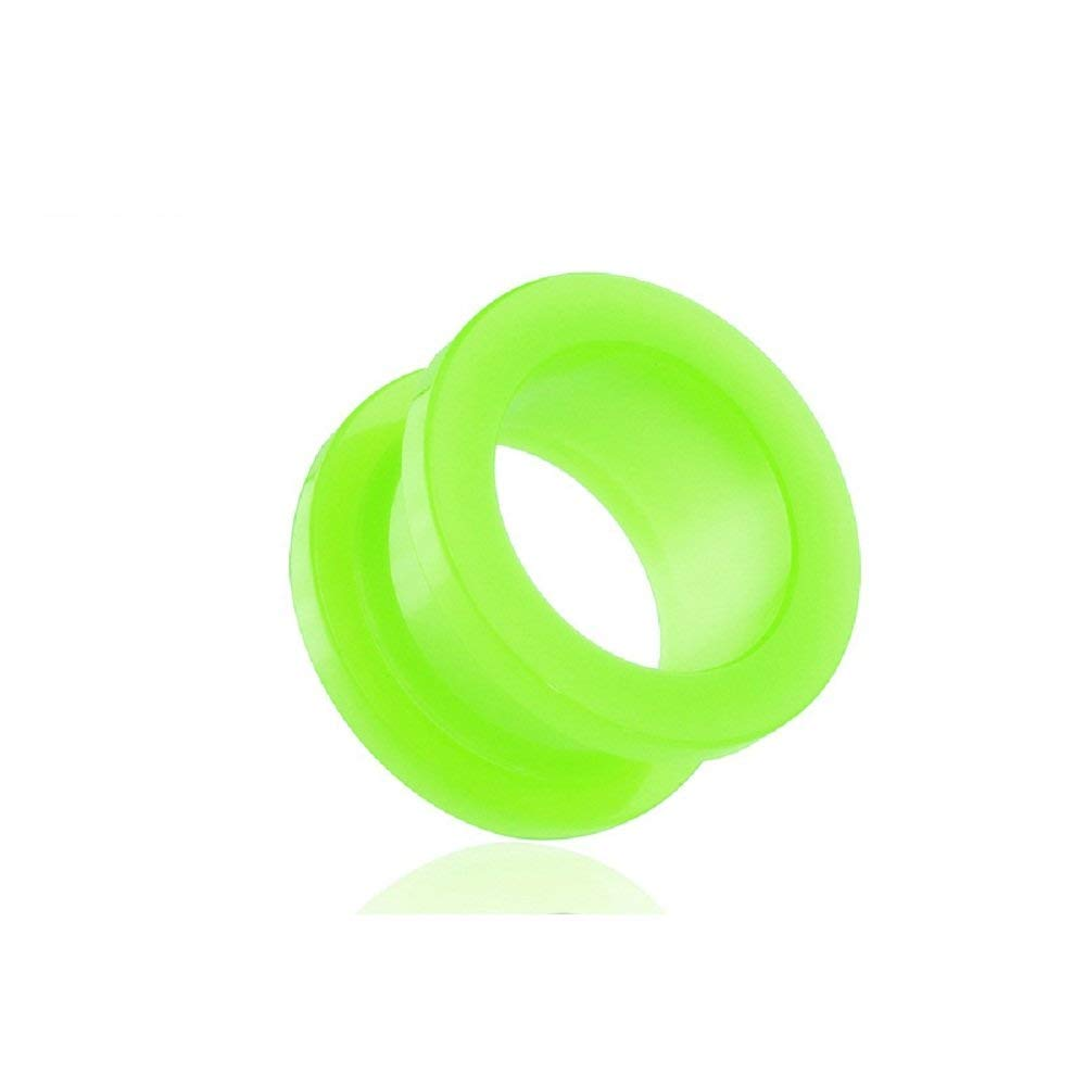 Covet Jewelry All Acrylic Green Screw Fit Tunnel Plug