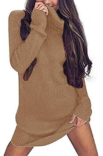 Maglieria Autunno Puro Termico Vintage Casual Maglioni A Maglione Slim Moda Elegante Felpe Lunga Colore Collo Invernali Manica Donna Caldo Pullover Alto aXXOwqPt