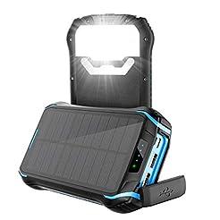 Aonidi Solar Charger 26800mAh Power Bank...