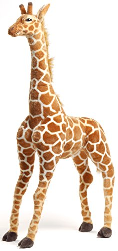 - VIAHART Jani The Savannah Giraffe | 4 1/2 Foot Giant Stuffed Animal Jumbo Plush | Shipping from Texas | by Tiger Tale Toys