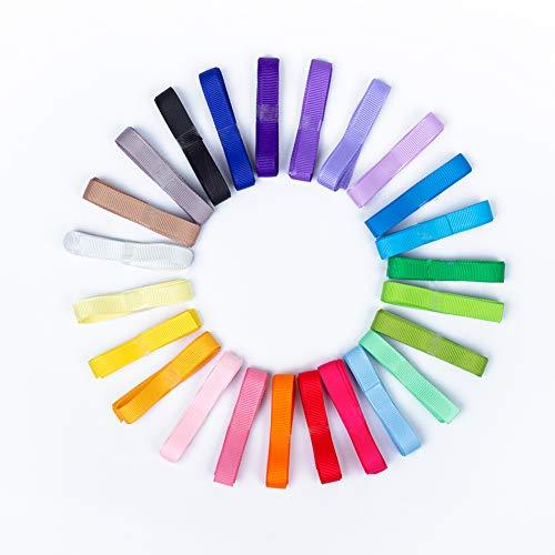- 24 Colors Boutique Grosgrain Ribbon Set 3/8