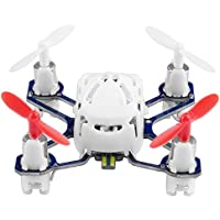 COOCHEER Hubsan H111 Q4 Nano 4-Channel 6 Axis Gyro RC Mini Drone Quadcopter with 2.4Ghz Radio System Mode 2 RTF for Kids (White)