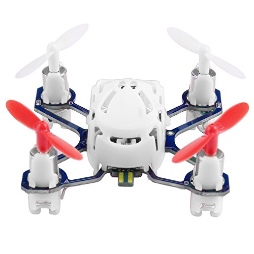 41ytLkg6OkL COOCHEER Hubsan H111 Q4 Nano 4-Channel 6 Axis Gyro RC Mini Drone Quadcopter with 2.4Ghz Radio System Mode 2 RTF for Kids (White)