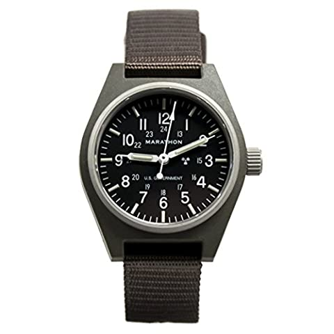 MARATHON WW194003SG General Purpose Mechanical (GPM) Military Field Watch with Tritium (Sage Green) (Swiss Mechanical Automatic)