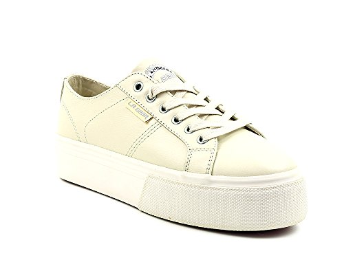 L.A. Gear Leder Sneaker/Schuhe Lotus Light Grey Größe EU 37/UK 4