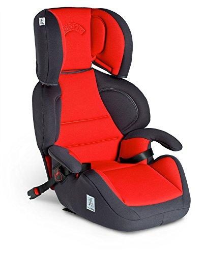 FAIR 60523 Kindersitz Junior-Fix, Gruppe 2/3, 15-36 Kg, Rot/Schwarz