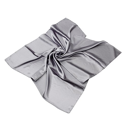 Elegant Large Silk Feel Solid Color Satin Square Scarf Wrap 36