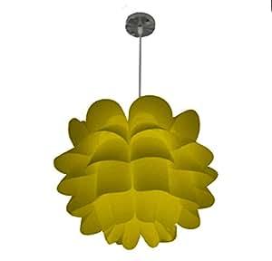 Takestop® Lámpara DESIGN Amarillo Lámpara 4501-1 Techo Redondo MODERNO 450 X 310 mm, Diseño de ORIGAMI Diseño de Mariposas Floral E27