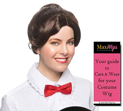 Mary Poppins Nanny Color Brown - Enigma Wigs Gibson Edwardian Early 1900 Female Andrews Theater Blunt Returns Bundle MaxWigs Costume Wig Care Guide -