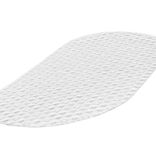 Vive Oval Bathtub Mat - Nonslip Shower Floor Pad - Non-Slip and Non-Skid for Bath Tub with Strong Rubber Suction Cup Grip - for Baby, Elderly, Kids, Bathroom (Clear)