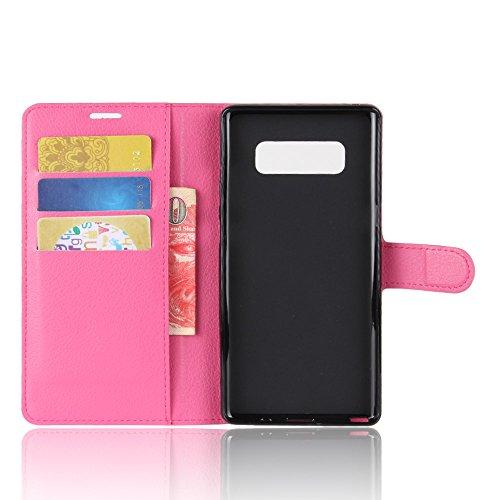 Funda Samsung Galaxy Note8,Manyip Caja del teléfono del cuero,Protector de Pantalla de Slim Case Estilo Billetera con Ranuras para Tarjetas, Soporte Plegable, Cierre Magnético(JFC10-6) G