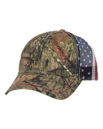(American Flag Meshback Camo Cap)
