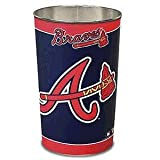 "Atlanta Braves MLB Tapered Wastebasket (15"""" Height)"