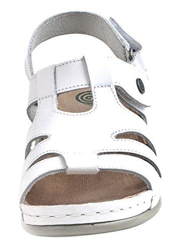 Dr. Brinkmann Dr. Brinkmann Damen Sandalette - Sandalias de vestir de Suela de PU para mujer Blanco - blanco