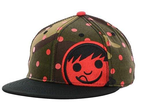 orp Camo/Red Flatbrim Snapback Hat Cap OSFA ()