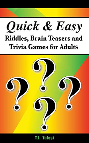 Pdf Humor Quick and Easy Riddles, Brain Teasers and Trivia Games for Adults