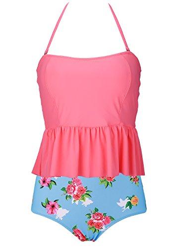 SEARTIST Waisted Swimsuit Halter Peplum product image