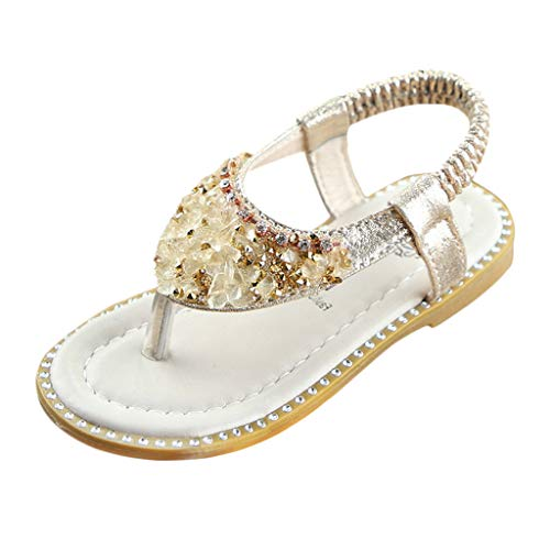 - New in Respctful✿Baby Sandals for Girls Mary Jane Flats Soft Sole Infant Floral Sparkly Princess Shoes Gold