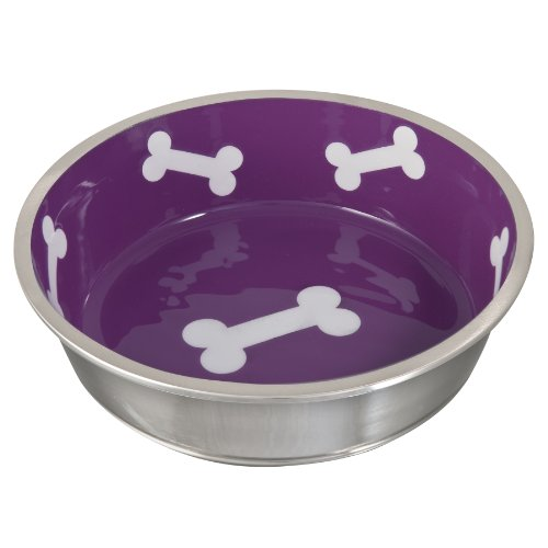 Loving Pets Robusto Bowl for Dogs, Large, Violet