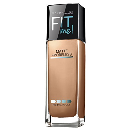 Beige Pure Foundation (Maybelline New York Fit Me Matte Plus Poreless Foundation Makeup, Pure Beige, 1 Fluid Ounce)