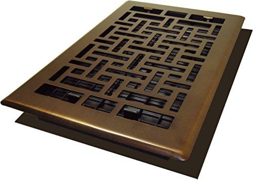 Decor Grates AJH610-RB Oriental Floor Register, 6-Inch by 10-Inch, Rubbed (Bronze Oriental Register)