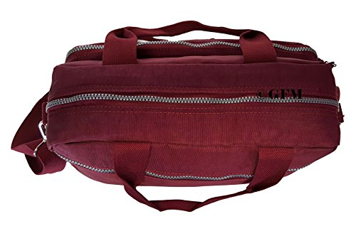 GFM tela de nailon con 3 compartimento bolsa para herramientas de Style 2 - Burgundy Red (658BRGLL)