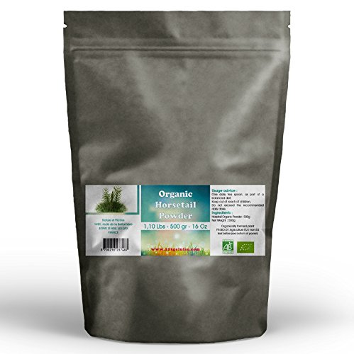 Aerial Parts - Horsetail Aerial Parts Organic Powder 1.10 Lbs - 500 g - 17.6 Oz